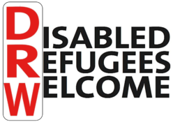 disabled refugees welcome logotyp