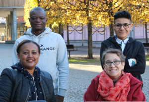 Disabled Refugees Welcome project team, 4 personer