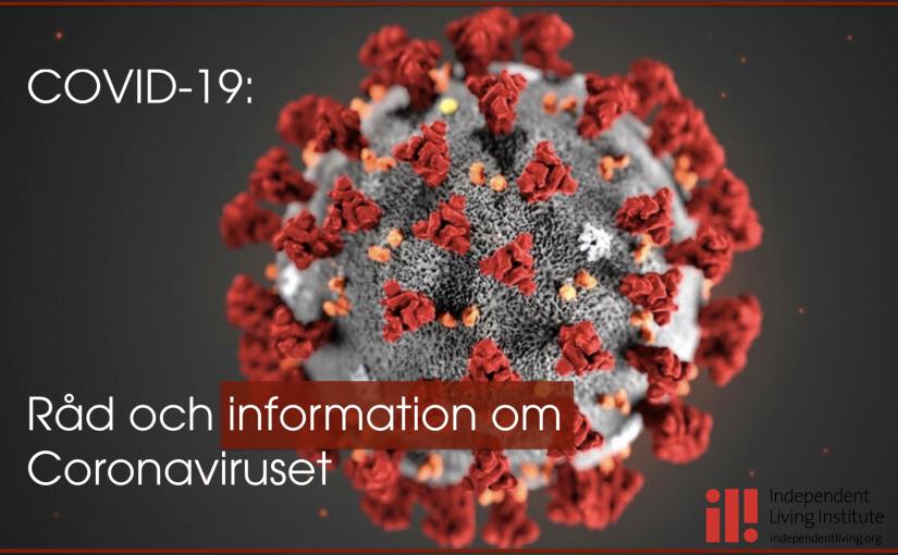 DRW vill nå ut med information om Coronaviruset och om sjukdomen Covid-19