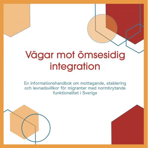 """omslag till informationshandboken. """"vägar mot ömsesidig integration"""""""